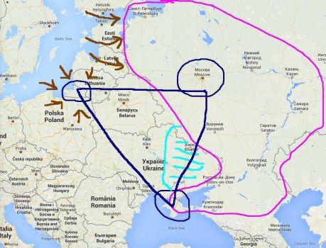 Jasný trojůhelník, kterýchrání sever, západ a jih od přepadení USA (NATO)